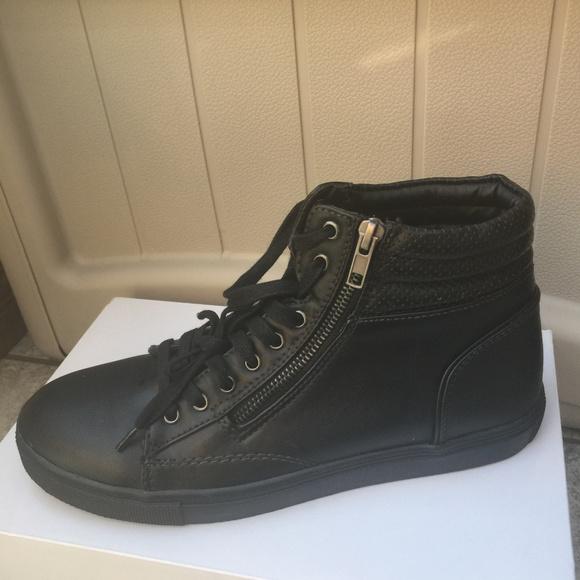 6efeb359195 Steve Madden Vegan Leather High Top Sneakers